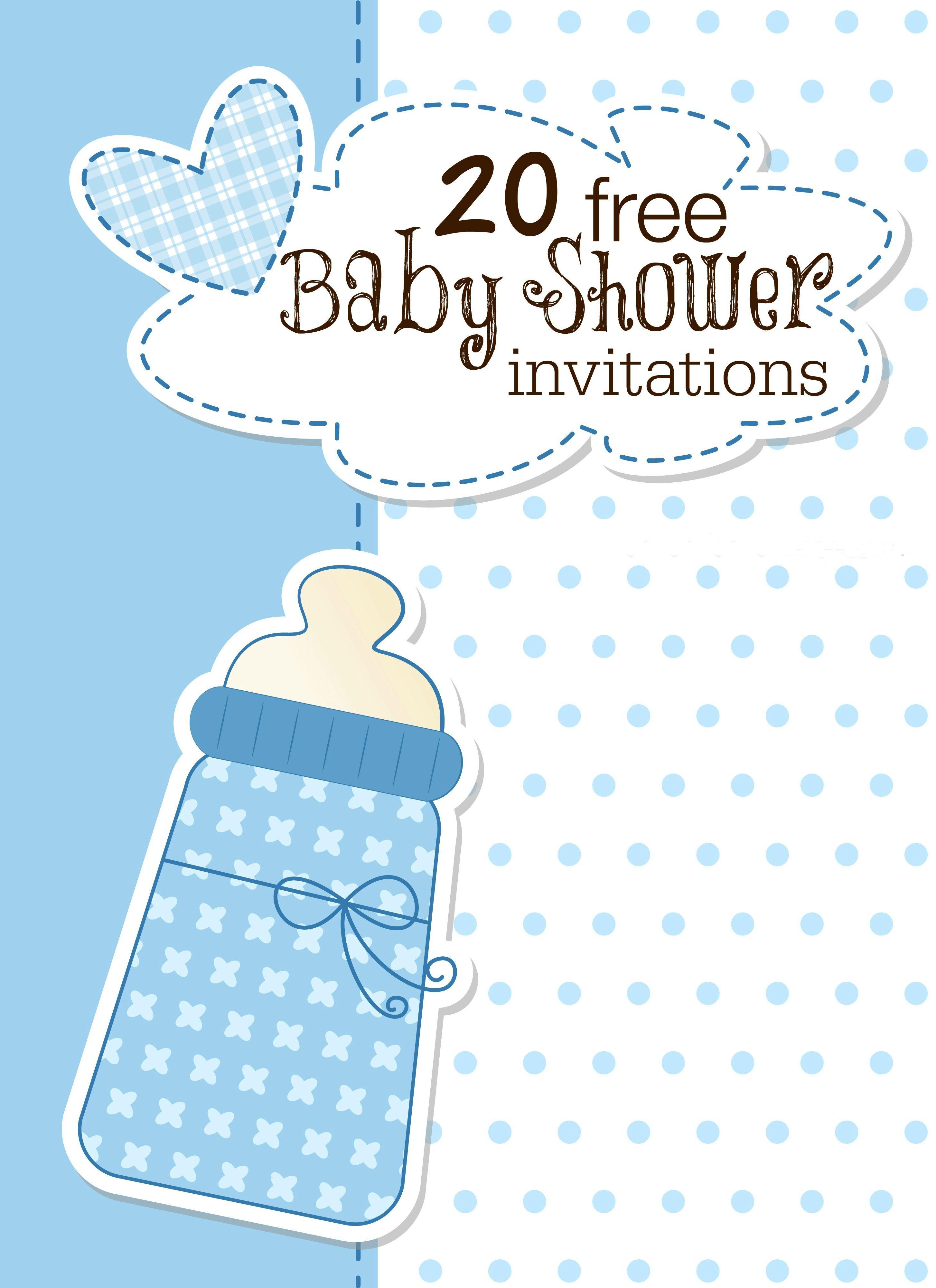 Baby Shower Invitation Free Baby Shower Invitation Template  Invitations