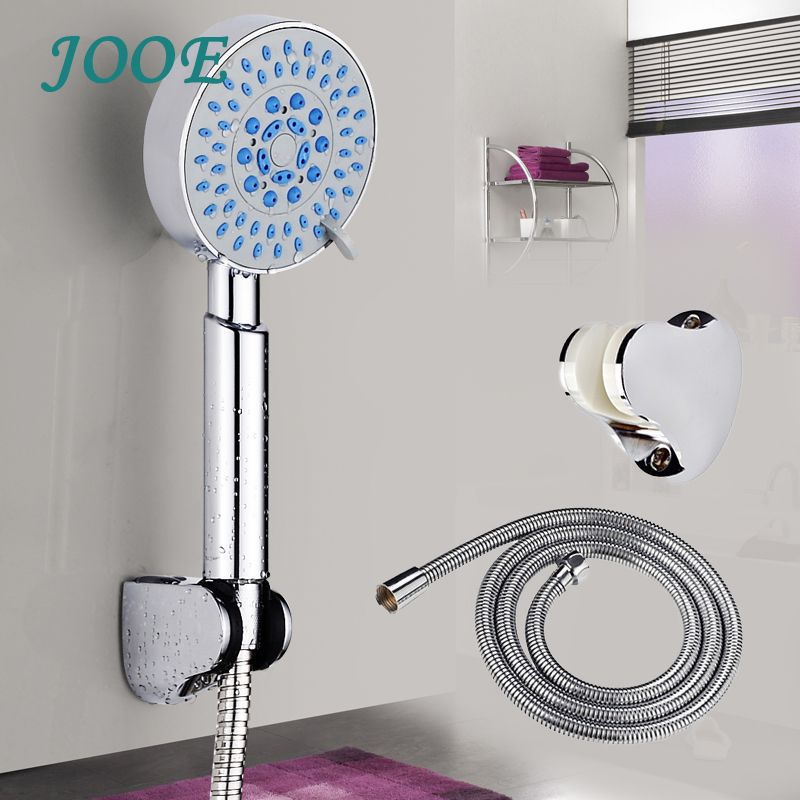 JOOE Bath Shower Head Sets 3 Functions Round Water Saving Shower Head High  Pressure With Hose