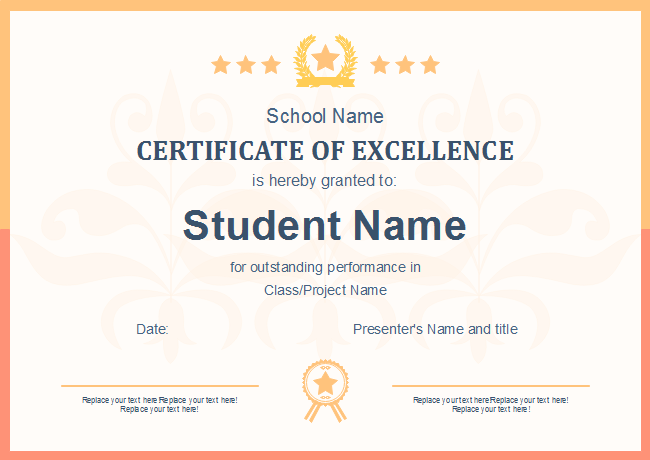 Honor Your Students With A Simple But Stunning School Certificate