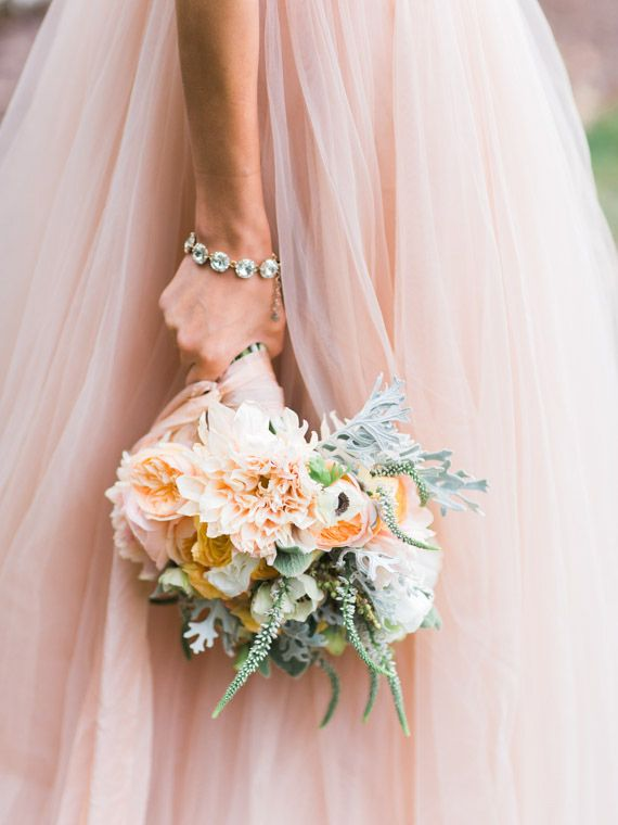 Intimate pastel wedding inspiration  | Photo by Carrie Coleman Photography | Read more -  http://www.100layercake.com/blog/?p=84115