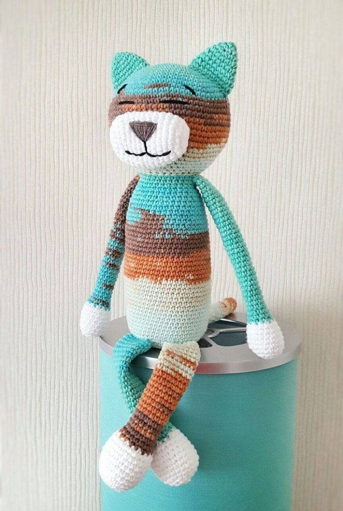 Free large Ami Cat crochet pattern | Baby | Pinterest