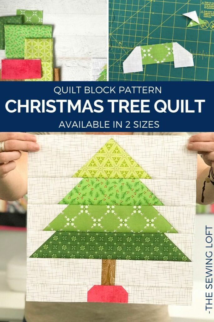 Christmas Tree Quilt | Blocks 2 Quilt - The Sewing Loft -   14 fabric crafts Christmas quilt blocks ideas