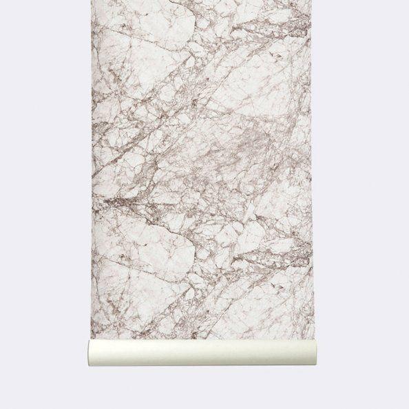papier peint ferm living tendance marbre. Black Bedroom Furniture Sets. Home Design Ideas