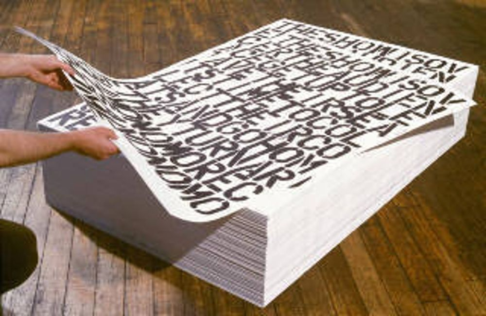 Communication Breakdown, Felix Gonzalez Torres & Christopher Wool