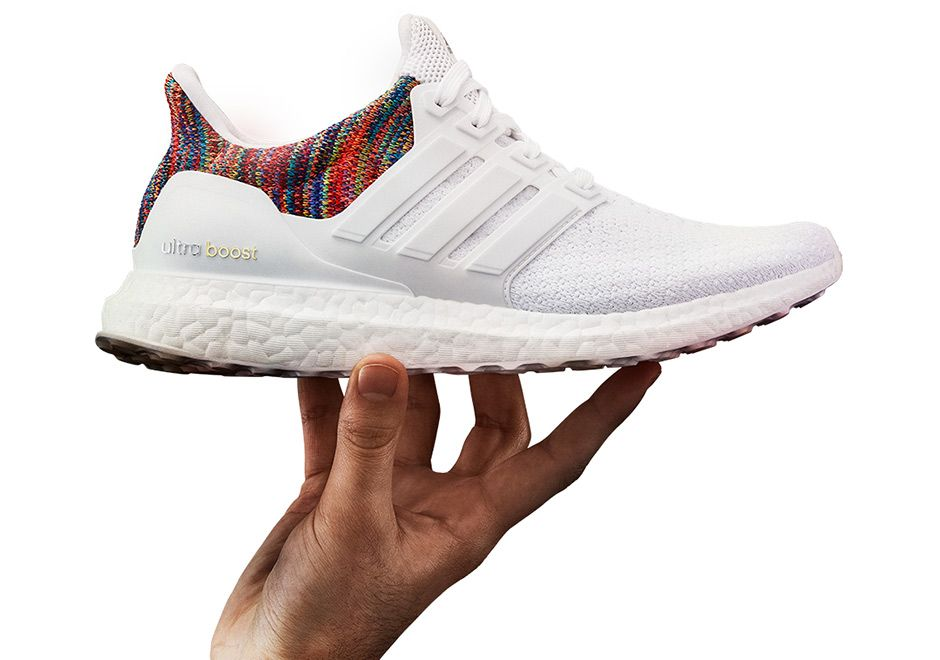 Order Stylish Adidas Ultra Boost Multicolor White Red Shoes