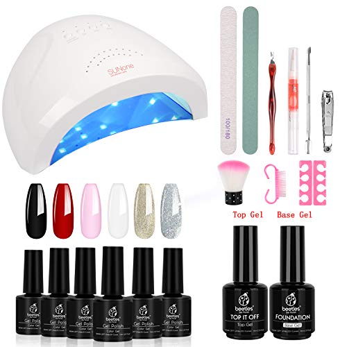 Beetles Gel Nail Polish Starter Kit With Uv Light 48w Led Nail Lamp Best Offer Luxclout Com Gel Nail Kit Nail Essentials Gel Nail Polish Set