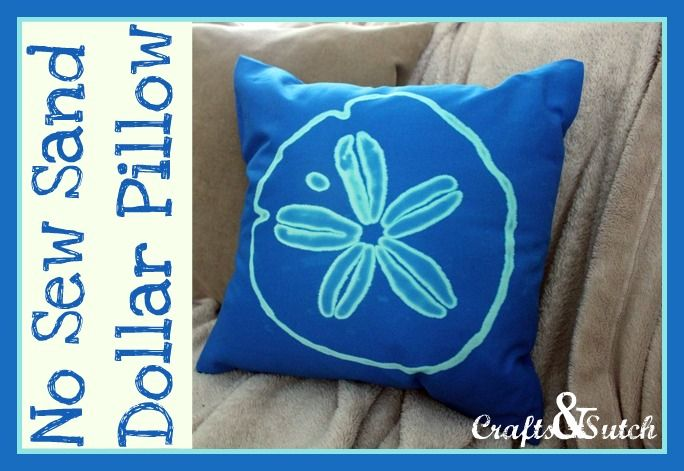 Crafts & Sutch: No Sew Bleached Sand Dollar Pillow