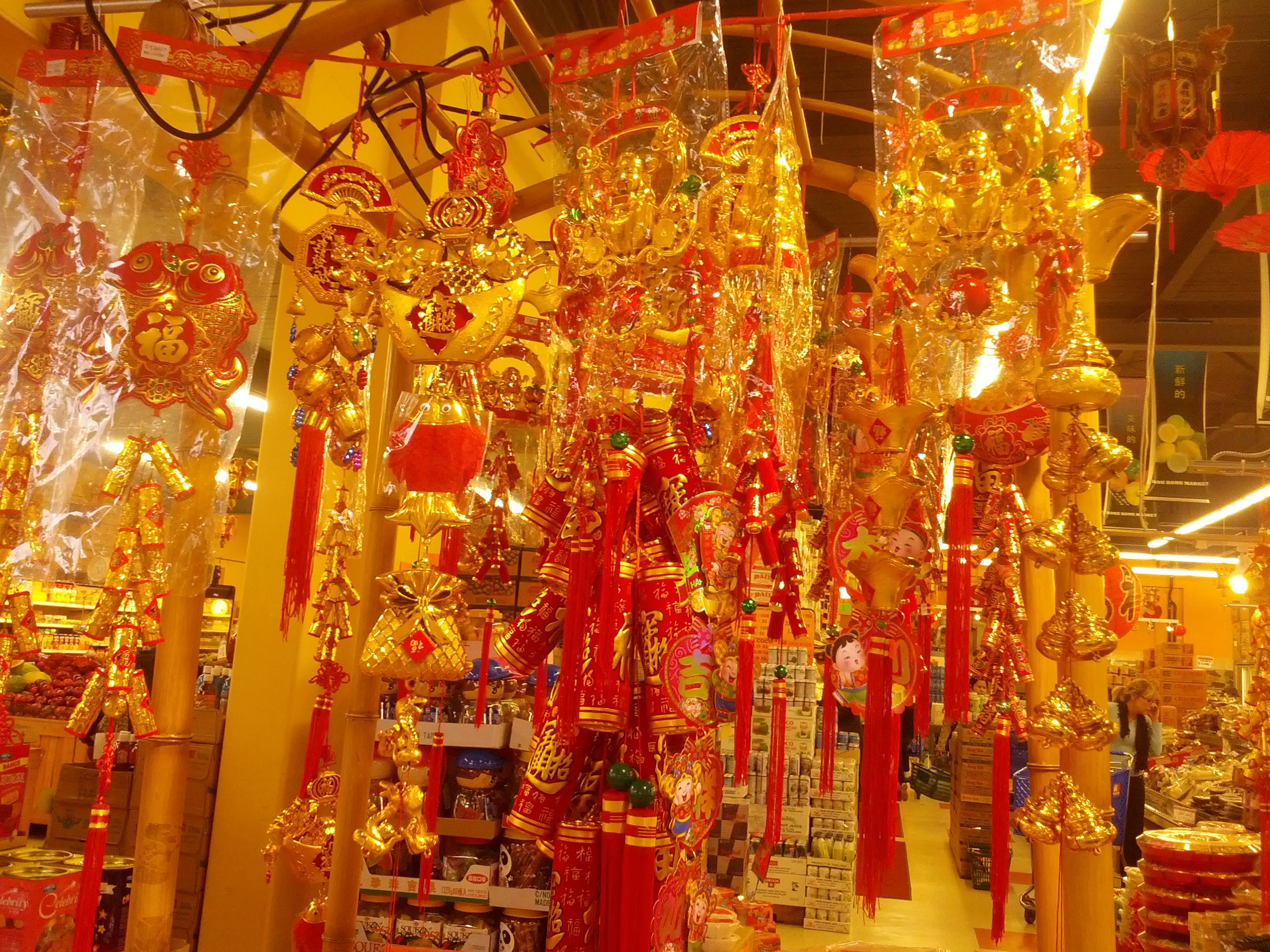 Hong Kong Market celebrating Chinese New Year with their ...