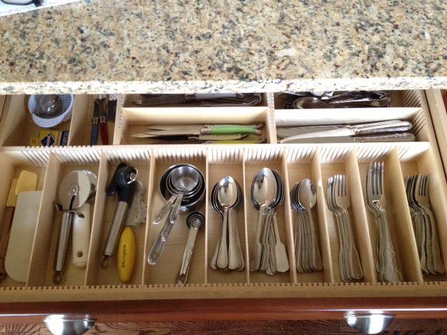 organized drawer, after, drawer organizer, orderly drawer insert