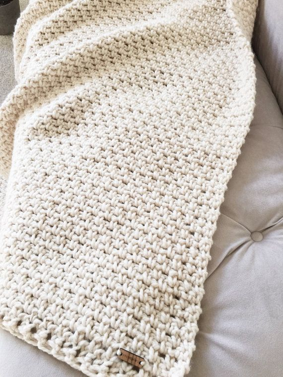 CROCHET Pattern Chunky Blanket Throw Afghan Pattern The IRISH MOSS ...