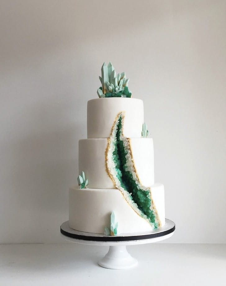 Geode Wedding Cakes Are The Next Trend