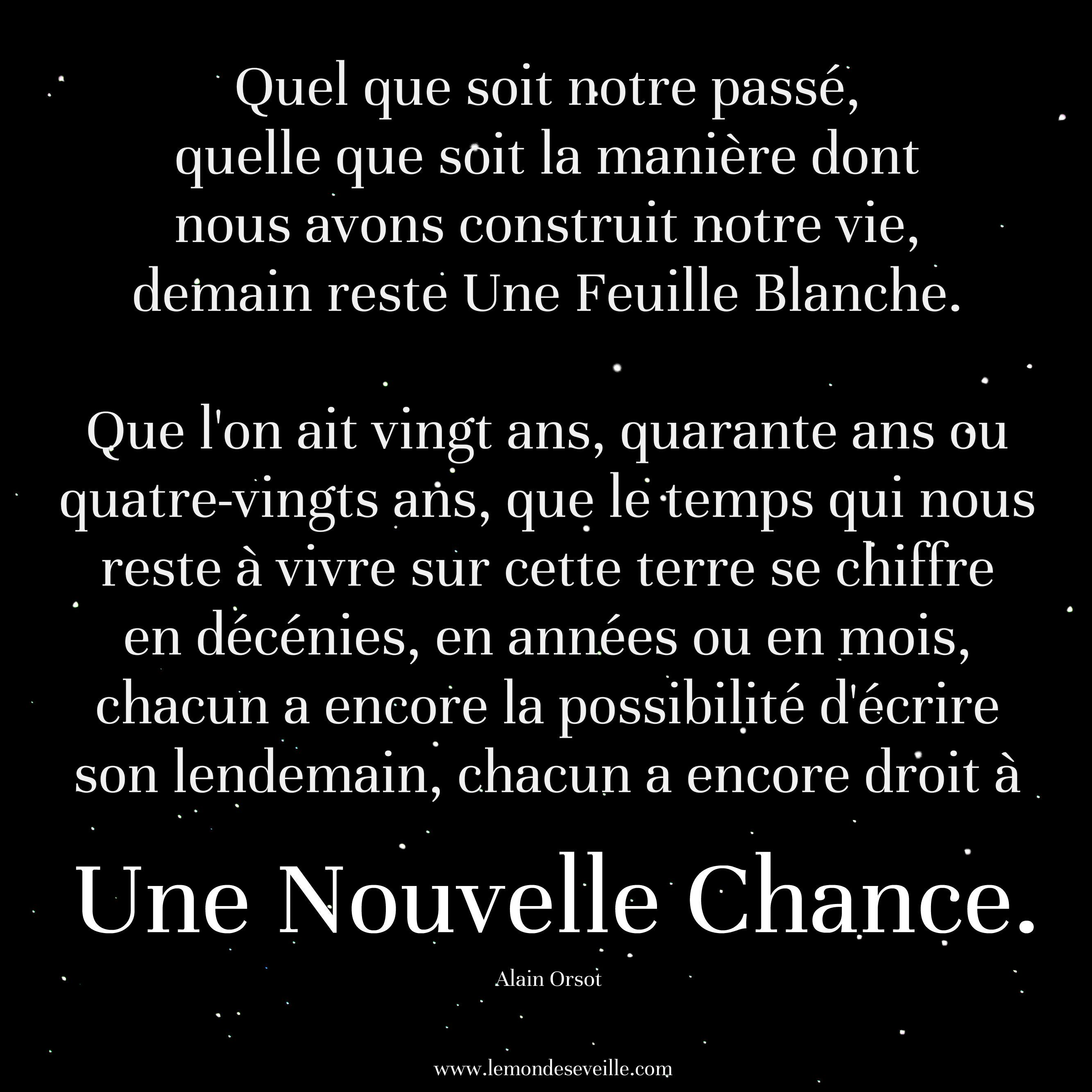 Nouvelle Chance Words Quotes Quotations