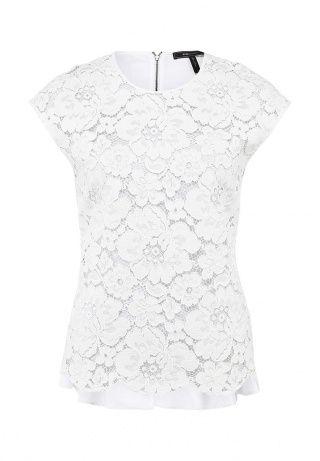 Белая кружевная блуза от BCBGMAXAZRIA. Модель выполнена из тонкого трикотажа. Особенности: круглый вырез, застежка-молния и изящная драпировка сзади. http://j.mp/1nYwXVU