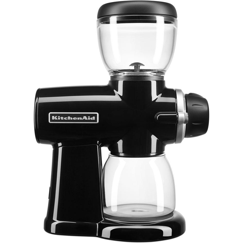 Kitchenaid 7 oz onyx black burr coffee grinder with