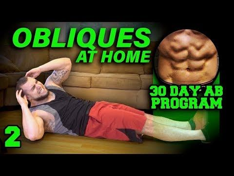 obliques workout at home  30 days to six pack abs for