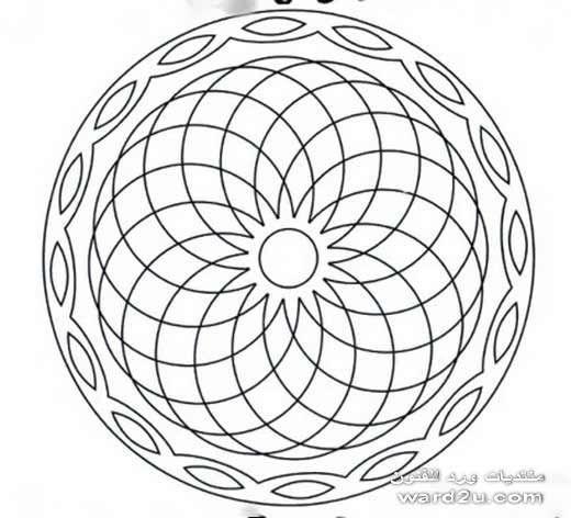 زخارف هندسيه مبتكره فى دائره و مربع Mandala