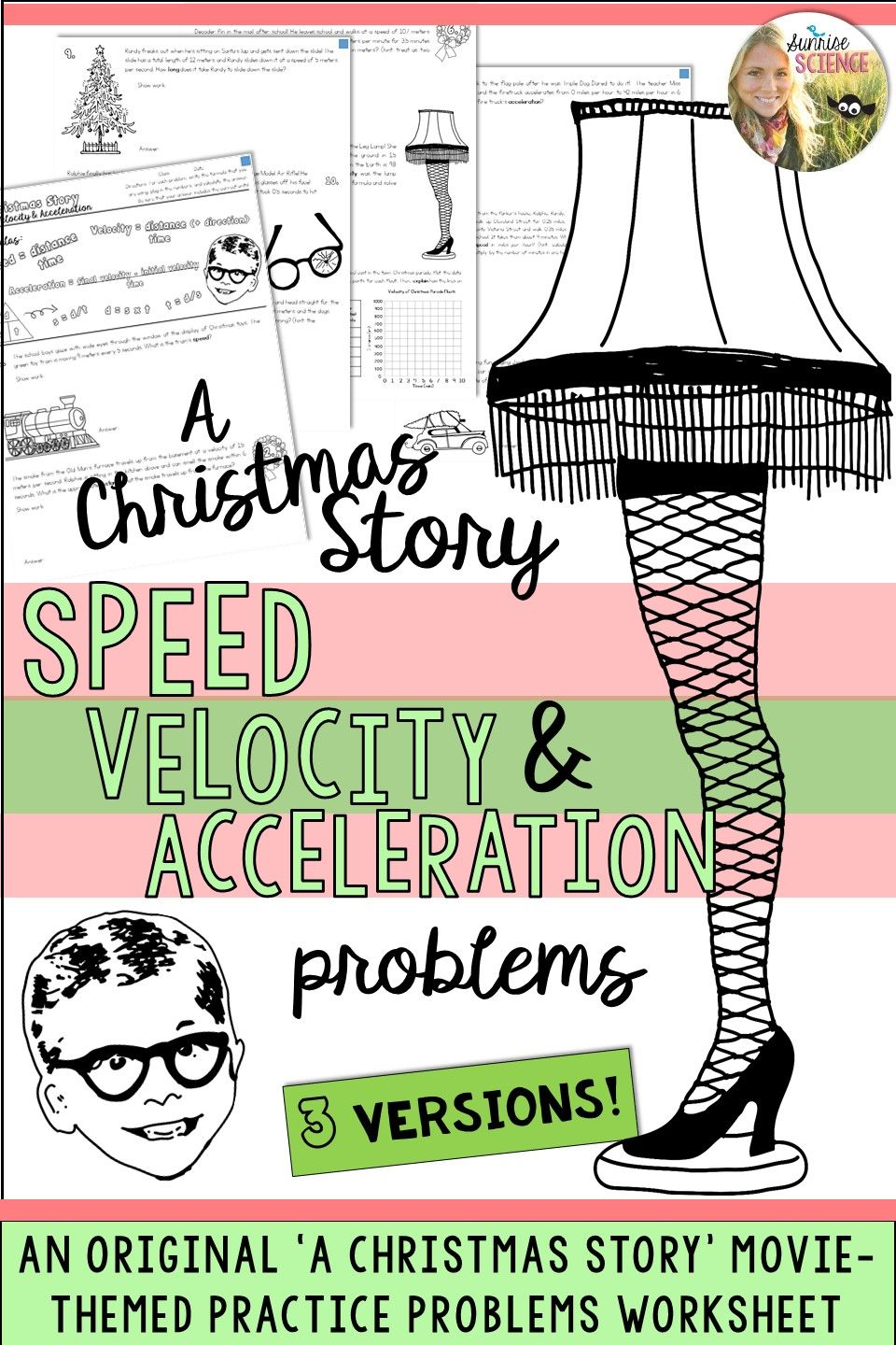 worksheet Velocity Practice Problems Worksheet speed velocity acceleration motion a christmas story physics practice problems