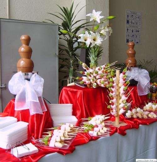 Buffet decoraci n de mesa bocaditos buffet pinterest buffet decoraciones de mesa y bocados - Decoracion buffet ...