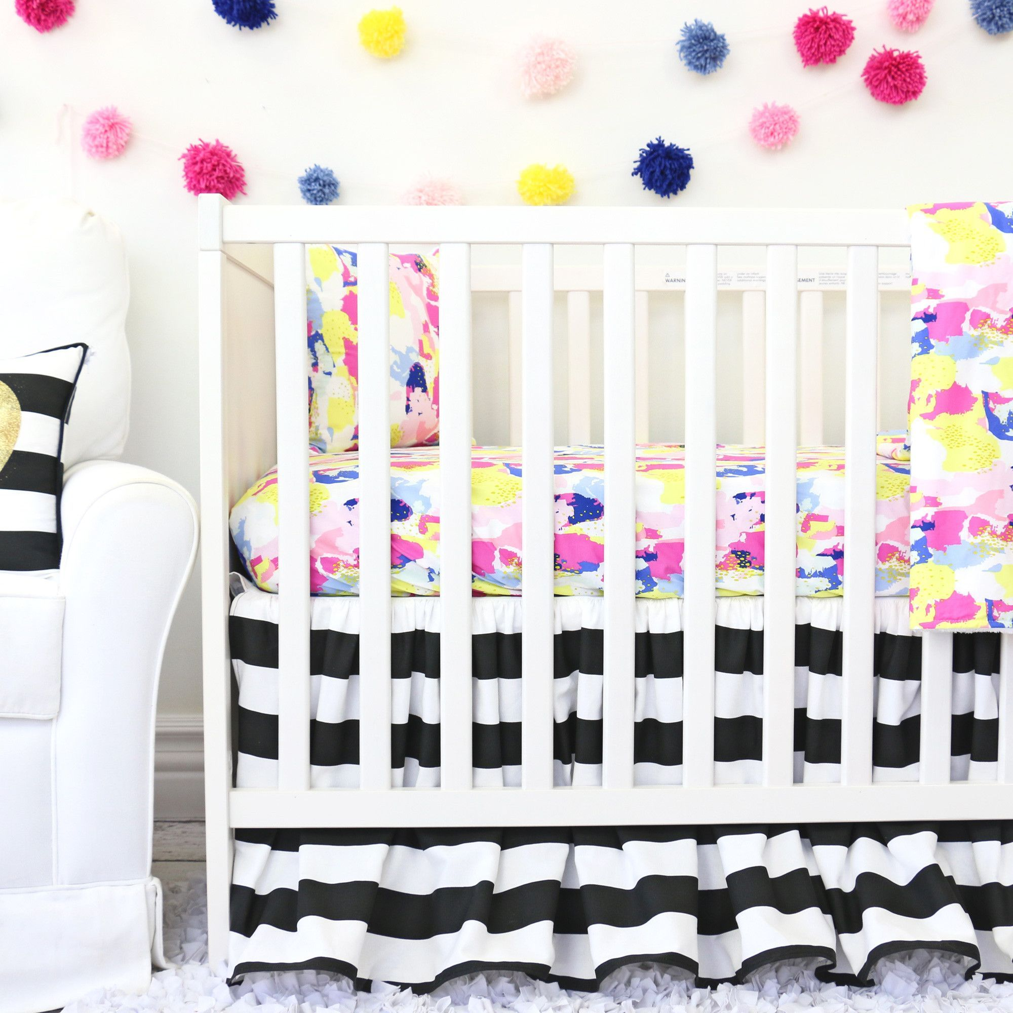 in white crib sheets bedding files nursery pict pink gold with best and appealing baby of styles elephant ideas black for