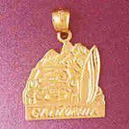 14K GOLD TRAVEL CHARM - CALIFORNIA #4861