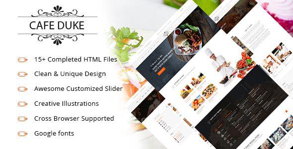 nice cafe-duke - restaurant html5 template (restaurants &amp cafes, Powerpoint templates
