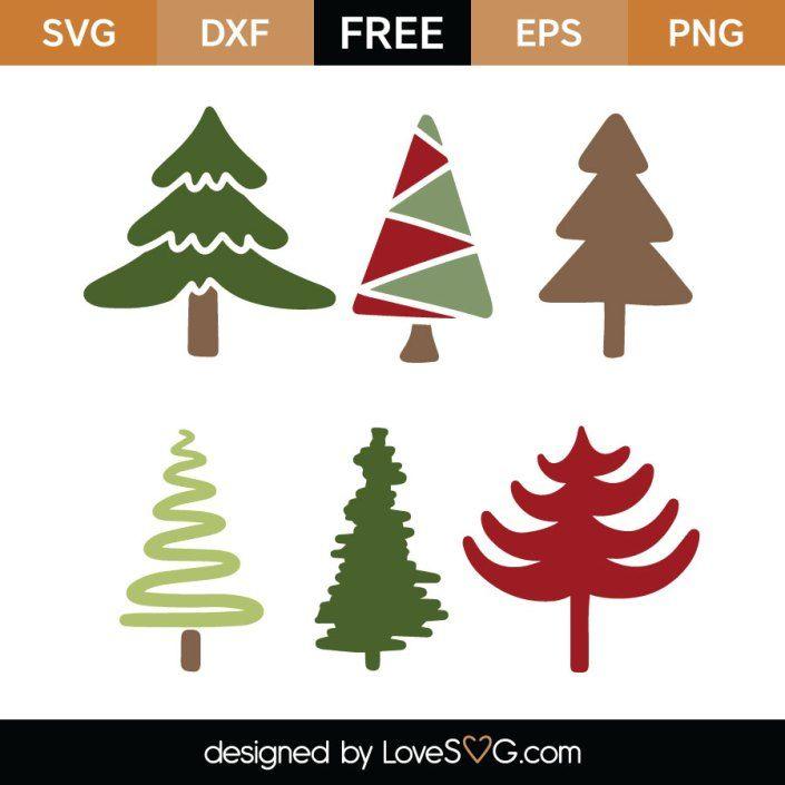 Download Christmas Trees SVG Cut File | SVG | Pinterest | Svg cuts ...