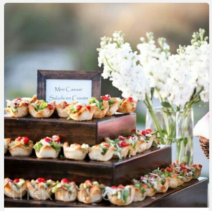 mini wedding food  u2665