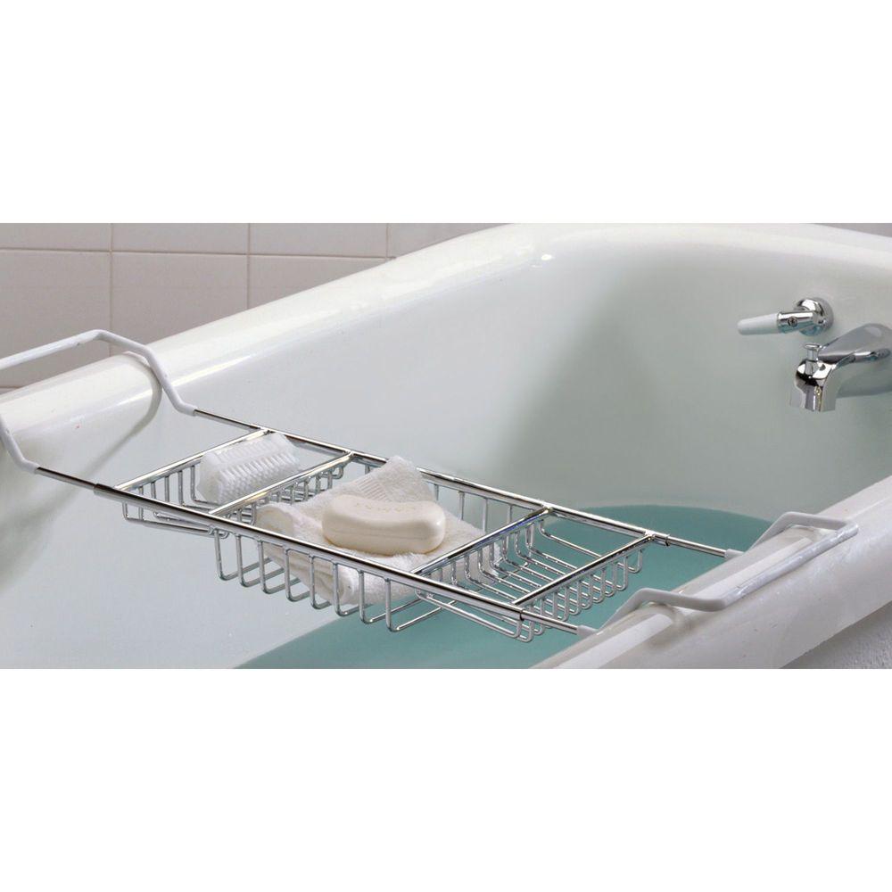 Taymor 02-D8590 BATHTUB CADDY adjustable arms to 38 inner width bath ...