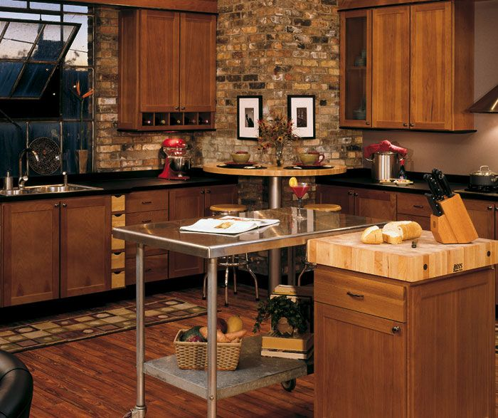 Rustic Hickory Kitchen Cabinets | Sedona Cabinet Door Style   Modified Full  Overlay Cabinetry .