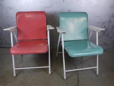fantastic pair russel wright industrial chairs samsonite metal mid