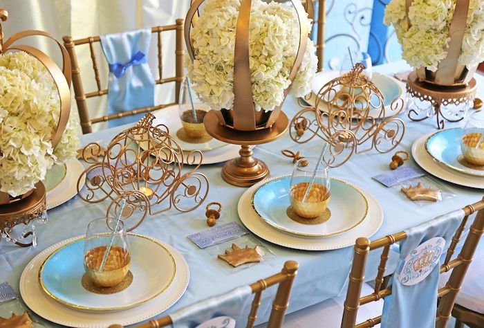guest tablescape from a royal prince baby shower on karas party ideas karaspartyideascom - Baby Shower Tablescapes Ideas