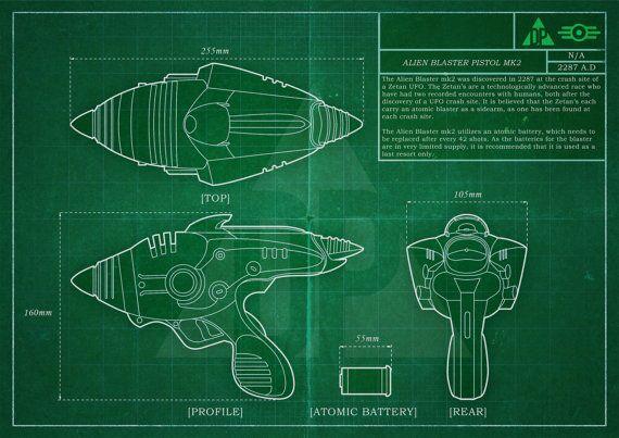 Fallout 4 alien blaster blueprint poster download vault art fallout 4 alien blaster blueprint poster download malvernweather Gallery