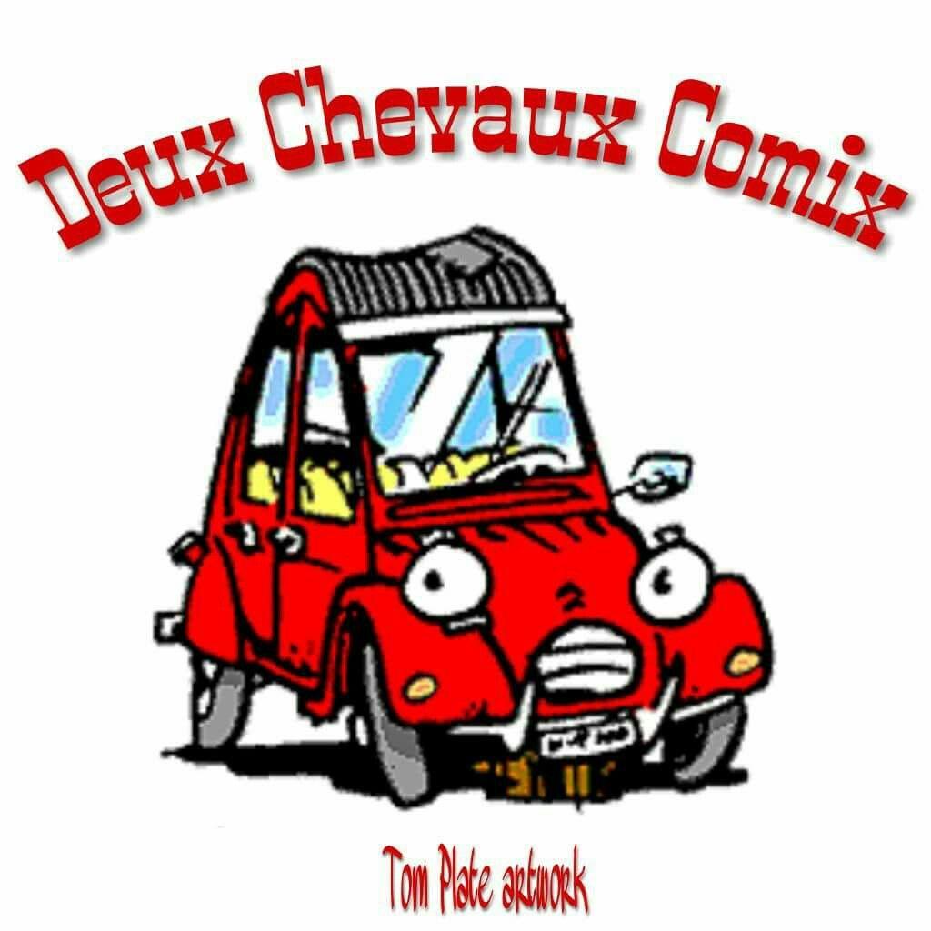 Citroen 2cv comic cartoon by tom plate citroen 2cv - Dessin 2cv humour ...