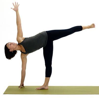flow sequence of classic standing poses for home practice