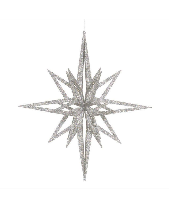 Vickerman 24 Silver Iridescent Star Christmas Ornament Christmas