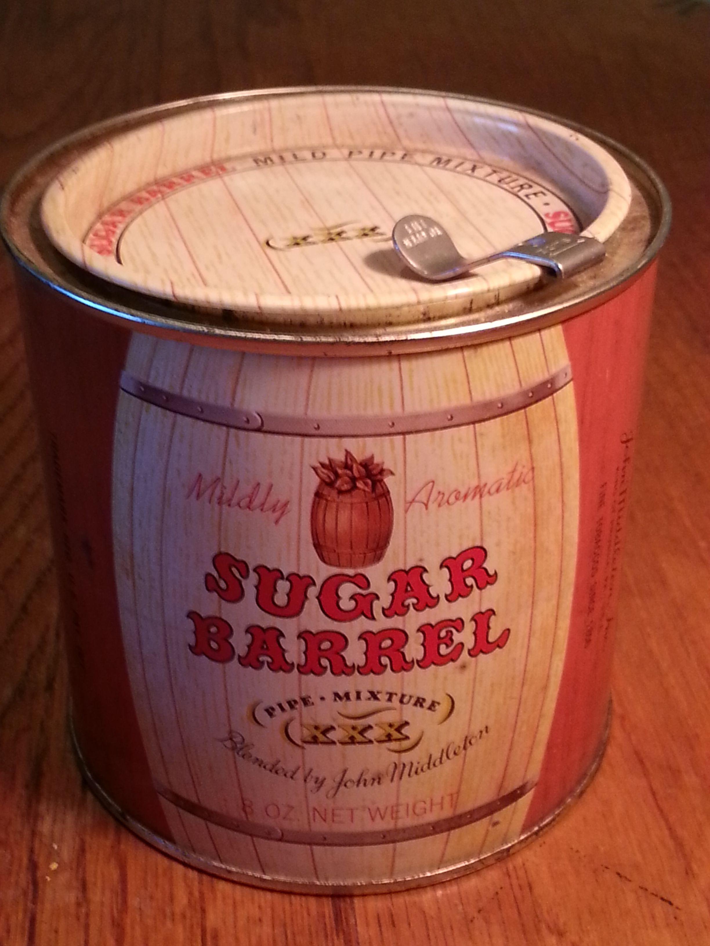 Sugar Barrel tin