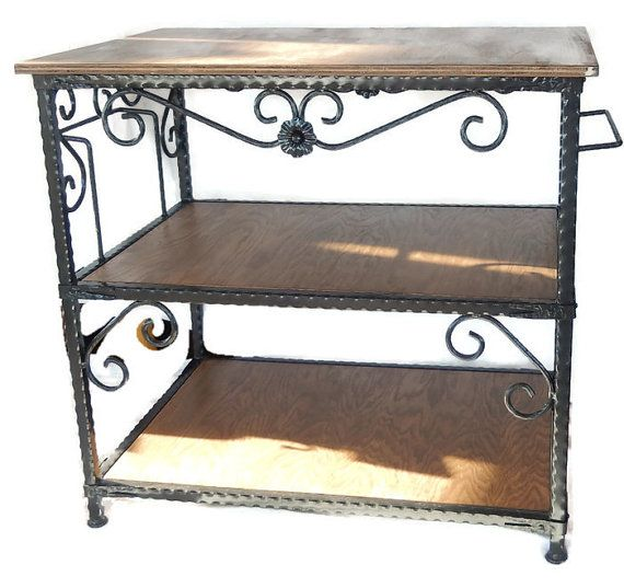 Handcrafted Wrought Iron Kitchen Island with by LAZYKWroughtIron ...