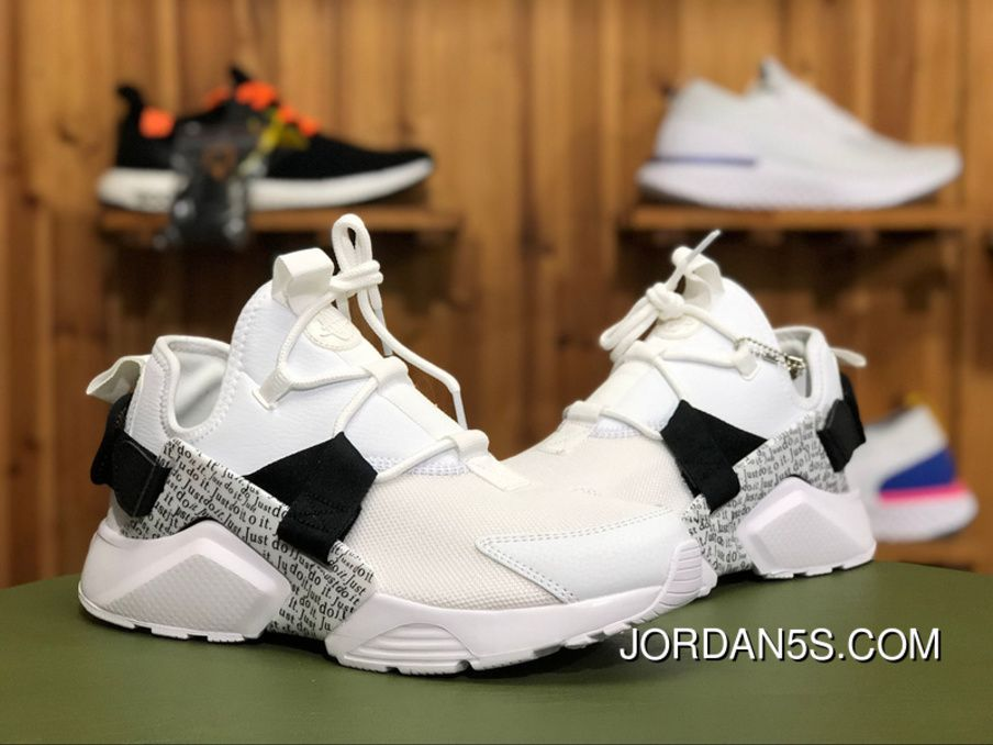 "1f05ef6aea61 Nike Air Huarache City Low ""Just Do It"" AO3140-100 White Black-Total Orange  Top Deals"