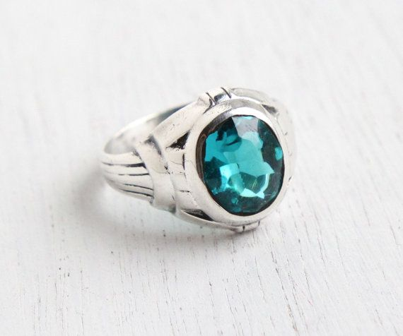 Wonderful Old Silver Antique Ring With Beautiful Agate And Turquoise Stone