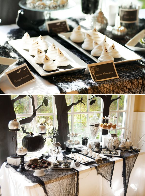 70 Ideas For Elegant Black And White Halloween Decor Jazz - pinterest halloween decor ideas