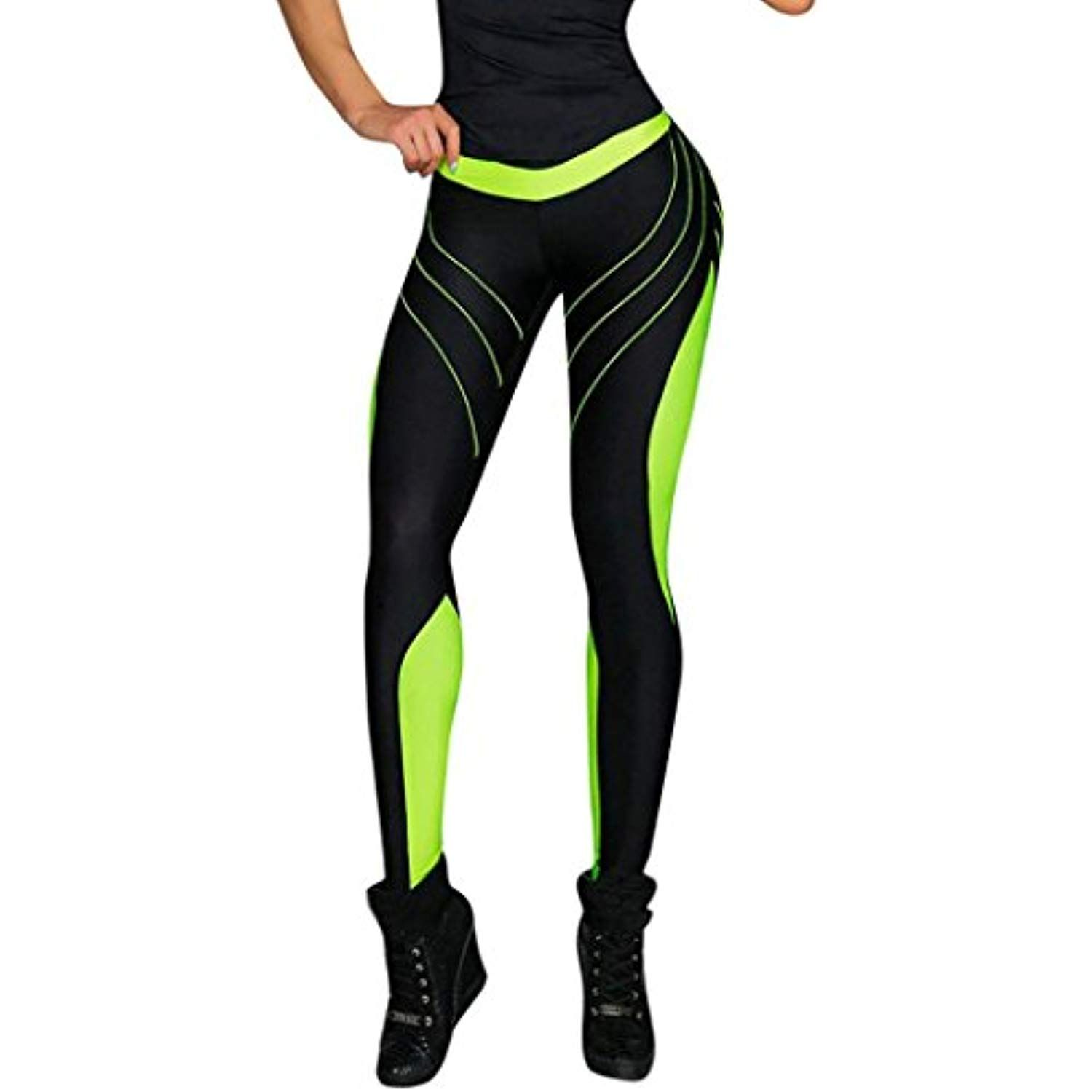 c741c1f8a3ce2 WELCOMEUNI Yoga Pants for Women High Waist 90 Degree by Reflex Fitness  Elastic Sport Gym Leggings >>> You can get more details by clicking on the  image.