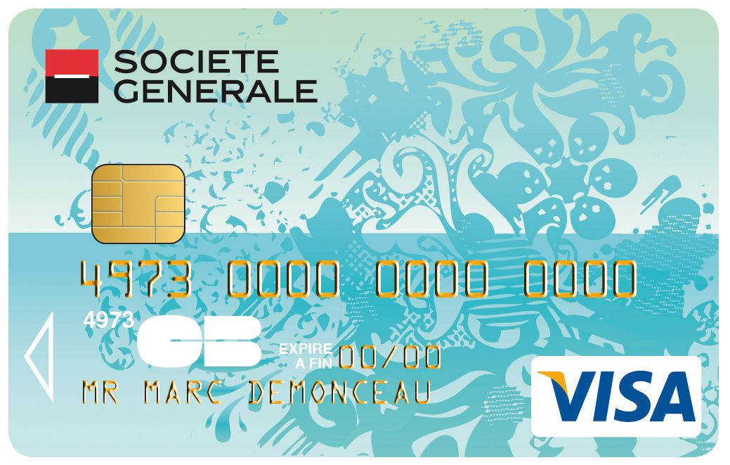 Carte Collection Visa Societegenerale Transparente Cartes