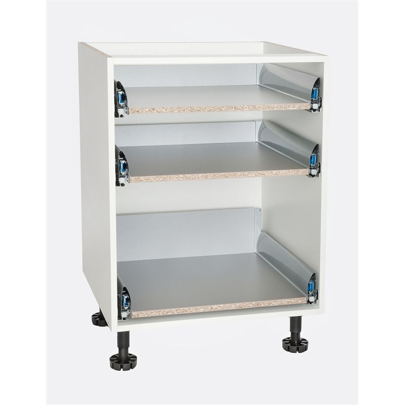 kaboodle kitset 600mm soft close 3 drawer carcase white drawers kaboodle white on kaboodle kitchen bunnings drawers id=92313