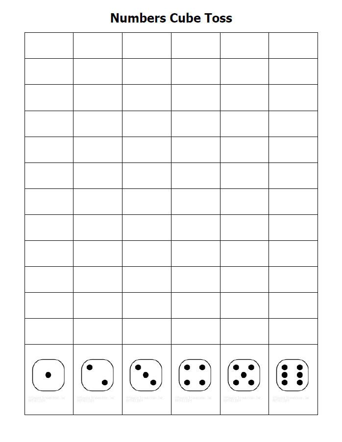 Roll dice and graph numbers rolled Neat idea for a line chart - graphs and charts templates