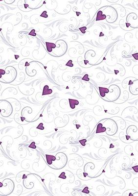 A4 Printed Creative Card Purple Romance Fondos De Papel Fondos Para Niños Corazones Púrpuras