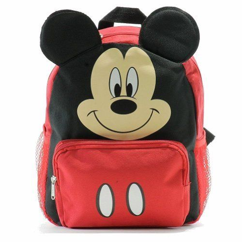 60b8a5a2950e Small Backpack - Disney - Mickey Mouse Face Ears New School Bag 052361