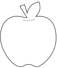 Juicy image within apple stencil printable