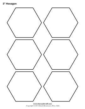 Free Hexagon Template English Pp   Pinteres