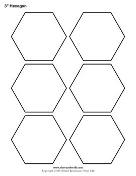 Blank Hexagon Templates Free Stencils Printables Templates