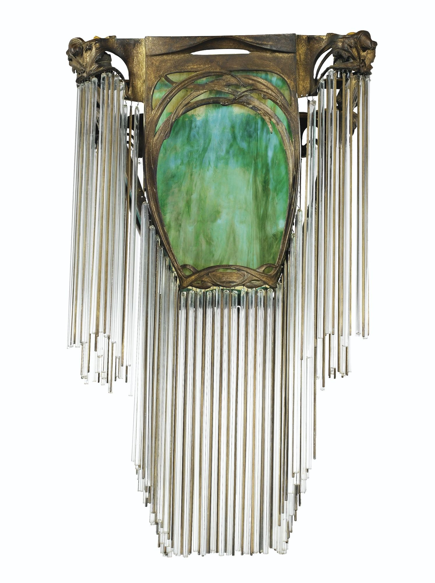 Hector guimard 1867 1942 lustre vers 1900 1910 a bronze glass hector guimard 1867 1942 lustre vers 1900 1910 a bronze glass metal and crystal ceiling light by hector guimard circa 1900 1910 aloadofball Image collections